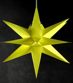 "Star Lanterns 24"" Yellow   Multi Point Paper Lanterns $13 each / 2 for $12 each"