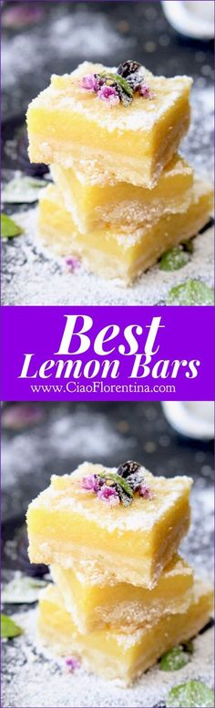 Best Lemon Bars Recipe | http://CiaoFlorentina.com @CiaoFlorentina