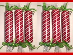DIY Large, Faux Christmas Candy Decorations From Pool Noodles. Christmas Float Ideas, Christmas Parade Floats, Candy Land Christmas, Candy Christmas Decorations, Grinch Christmas, Christmas Holidays, Christmas Projects, Holiday Crafts, Giant Candy
