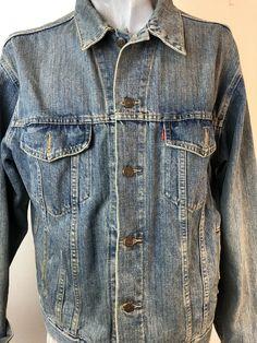 Denim Button Up, Button Up Shirts, Levis Jacket, Levi Strauss & Co, Vintage Levis, Men's Fashion, Vest, Jackets, Ebay