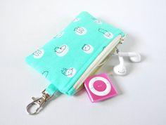 Woman's keychain coin pouch padded gadget by CuriousMissClay, £6.00