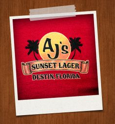AJ's Sunset Lager Front Red