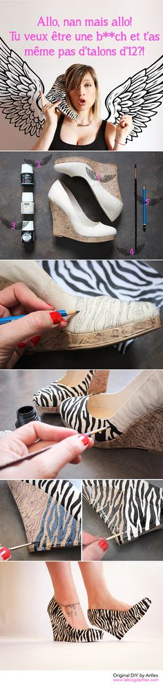 High heel shoes DIY