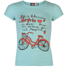 Lee Cooper Bike T-Shirt Ladies Enjoy a comfortable and casual wear in this  Lee 828aa2a4b4