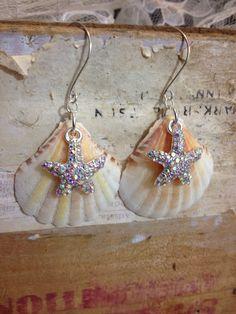 Sea Shell Earrings by TwoTimeTravellers on Etsy, $7.00