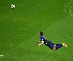 Robin van Persie's World Cup header is on a shortlist of three for FIFA's best goal of 2014. Winner announced 12 Jan. | via Facebook