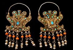 Antique central Asian earrings