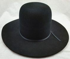 4a8acfc17fa Resistol Self Conforming Cowboy Hat Long Oval 4X Beaver 007 Black 7 1 2  Unshaped