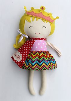 ORDERS PLACED till 7th April will definetly arrive till Easter. Surprise the little ones in your life with a personalized present and a bespoke toy they never knew they wanted! Personalize your doll with a name tag. - Choose your favourite La Loba superhero doll - add this listing with the name tag to your cart as well: http://etsy.me/1VzyFzs At checkout, please leave me any requests in the comments section of your wished name or short message. Name tags are hand embroidered...