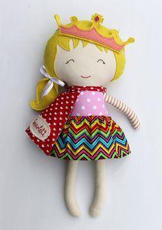 Rag doll toy princess handmade fabric doll clothing toddler girl gift kids game…                                                                                                                                                                                 More
