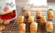 financiers-noix-et-sirop-d'érable Dairy, Potatoes, Cheese, Baking, Ethnic Recipes, Desserts, Food, World Cuisine, Tailgate Desserts