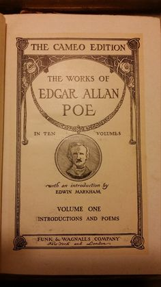 Check out this item in my Etsy shop https://www.etsy.com/listing/472286196/edgar-allan-poe-the-cameo-edition-volume