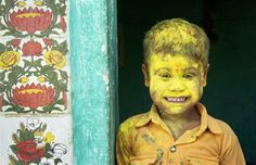 """""""Yellow Fellow."""" Photographer Anurag Kumar: """"Holi is one of the major festivals of India and is the most vibrant of all. The joys of Holi knows no bounds. The festival is celebrated across the four corners of India or rather across the globe. The festival is filled with so much fun and frolic that the very mention of the word 'Holi' draws smiles and enthusiasm amongst the people. Holi also celebrates the arrival of spring, a season of joy and hope."""""""