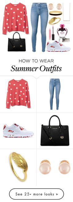 """""""Monday Outfit"""" by thebeauty26 on Polyvore featuring Equipment, NIKE, MICHAEL Michael Kors, Kenneth Jay Lane, Halcyon Days, NOVICA, MAKE UP STORE, Moschino and Burberry"""