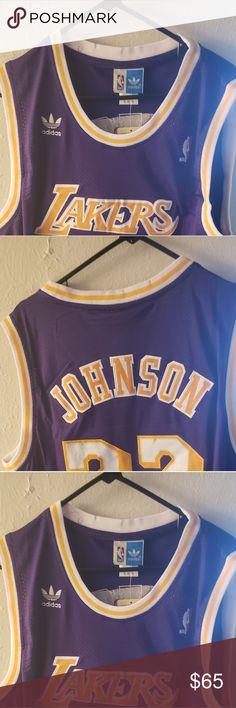 Basketball uniform of lakers Magic Johnson point guard power forward  hardwood classic Tops Tees - Short Sleeve f2280126d1ad