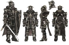 View an image titled 'Armor Designs Art' in our The Last Story art gallery featuring official character designs, concept art, and promo pictures. Fantasy Rpg Games, Fantasy Armor, Medieval Fantasy, Final Fantasy, Character Concept, Character Art, Concept Art, Character Ideas, Character Design Sketches
