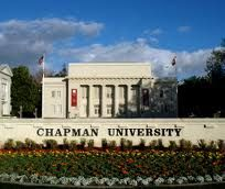 Chapman University is a private, non-profit university located in Orange, California affiliated with the Christian Church. Known for its blend of liberal arts and professional programs, Chapman University encompasses seven schools and colleges. For the 2010-2011 academic year, Chapman University enrolled 6,398 students. The year 2011 marked the 150th anniversary of Chapman University's founding as Hesperian College, and was celebrated with a series of on-campus events.