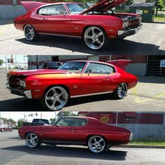 70 Chevy Chevelle Kandy Red on Asanti 5 star wheels candy apple 1969 Chevelle Ss, Chevrolet Chevelle, Classic Auto, Classic Man, Candy Car, Car Painting, Vroom Vroom, Car Stuff, Custom Cars