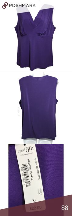 NWT East 5th Medieval Purple Sleeveless Top NWT East 5th Medieval Purple Sleeveless Top Crisscross Front. East 5th Tops