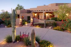 Albuquerque is home to beautiful Southwestern landscaping similar to this picture.