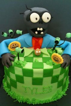 Plants vs Zombies cake.