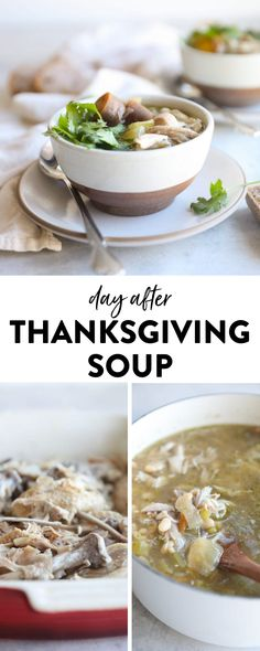 Save that leftover turkey carcass and enjoy every last scrap from Thanksgiving with this delicious turkey carcass soup. Paired with hearty grains, beans and veggies, this turkey soup is the perfect day-after Thanksgiving meal the whole family can enjoy! Chicken Carcass Soup, Turkey Soup From Carcass, The Healthy Maven, Healthy Eats, Healthy Soups, Thanksgiving Soups, Seasonal Food, Fall Food, Healthy Cookie Recipes
