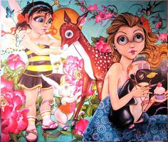 Coco Electra - love her quirky style and color palette.