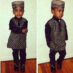 Check this cutie pie out! ~African fashion, Ankara, kitenge, African women dresses, African prints, African men's fashion, Nigerian style, Ghanaian fashion ~DKK