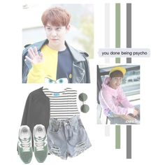 Park Kyung by lazy-alien on Polyvore featuring moda, M.i.h Jeans, MANGO, New Balance, blockb, Kyung and parkkyung