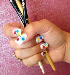 Color Splash Gelish Nail Art