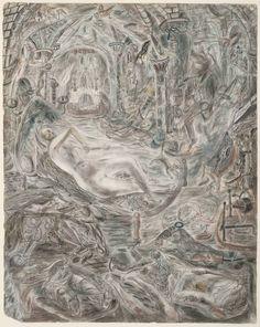 'Illustration to the Arthurian Legend: Guenever', 1938–40 by David Jones (British 1895–1974) © The estate of David Jones