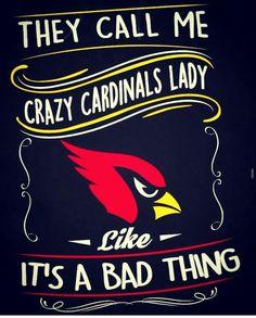Arizona Cardinals Crazy Lady. Arizona LadyBirds #BirdGang