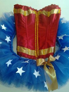 Wonder Woman Custom Corset Outfit/ Made to by LostGirlsOutlet, $95.00