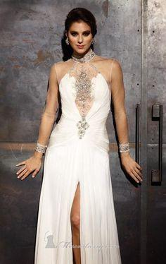Terani GL1000 Dress - MissesDressy.com  #white #embellished #sheer