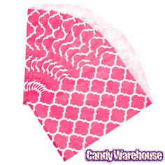 Just found Hot Pink Casablanca Pattern Candy Bags: 25-Piece Pack @CandyWarehouse, Thanks for the #CandyAssist!
