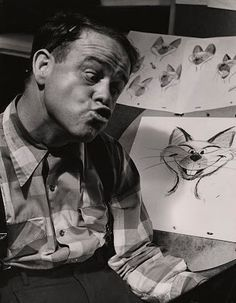 Ward Kimball being a total goofball while animating Si and Am.