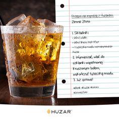 Złocisty drink z nutą rozmarynu #przepis #drink #cocktail #miód #rozmaryn #Huzar