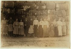 1908 - Group of employees in Lancaster (S.C.) Cotton Mills.  Location: Lancaster, South Carolina.  Lewis Hines Photographer