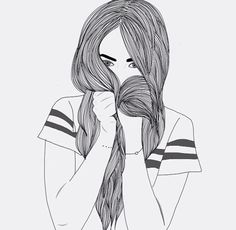 easy black and white drawings Tumblr Outline, Outline Art, Outline Drawings, Cute Drawings, Drawing Sketches, Hipster Drawings, Tumblr Girl Drawing, Tumblr Drawings, Tumblr Art