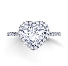 #Holiday #Specials ~ #Danhov Collection exclusively at #Capri #Jewelers #Arizona ~ http://www.caprijewelersaz.com/danhov ♥ Heart shaped wedding ring by Danhov Per Lei