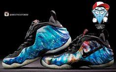 "Nike Foamposite ""Electric Galaxy"" Nike Foamposite, Lit Shoes, Foam Posites, All About Shoes, Jordan Retro, Shoe Game, Basketball Shoes, Cleats, Designer Shoes"