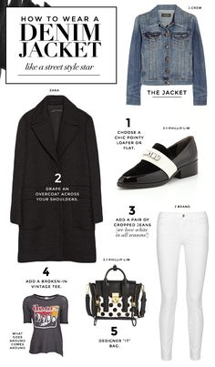 How to wear a jean jacket like a street style star