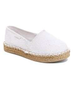 Take a look at this Carter's White Astrid Espadrille today!