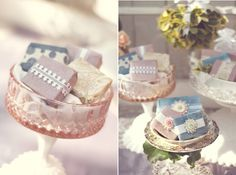 wedding favours, vintage soap