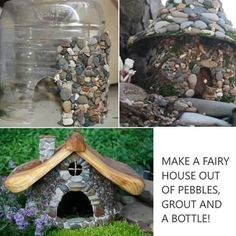 Ideas: The Aquarium Buyers Guide These sweet Stone Fairy houses will look great in any winter OR spring garden!Aquarium Ideas: The Aquarium Buyers Guide These sweet Stone Fairy houses will look great in any winter OR spring garden! Fairy Crafts, Garden Crafts, Garden Projects, Garden Art, Garden Beds, Garden Design, Garden Trellis, Backyard Projects, Fairy Garden Houses