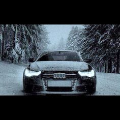Audi sexy beast in the snow! Audi Lamborghini, Audi Cars, Sexy Cars, Hot Cars, My Dream Car, Dream Cars, Fancy Cars, Car Colors, Hot Rides