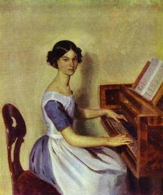 Portrait of Nadezhda P. Zhdanovich at the Piano, 1849 - Pavel Fedotov