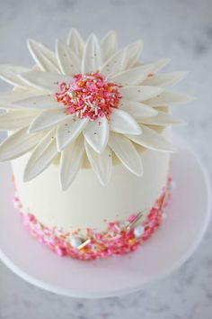 Giant Chocolate Daisy Cake with vanilla bean buttercream and candy petals! Enjoy RUSHWORLD boards, H Chocolate Giant Cupcake, Giant Cupcake Cakes, Chocolate Flowers, Wedding Cakes With Cupcakes, Mini Cakes, Cupcake Wedding, Cake Chocolate, White Chocolate, Modeling Chocolate