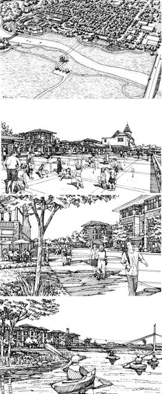 RDg planning + design. Des Moines, IA. Sketch renderings by Bruce Bondy, Bondy Studio