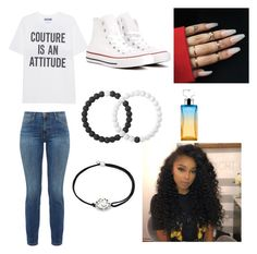 """Feeling myself"" by kamariaxo on Polyvore featuring Moschino, Current/Elliott, Converse, Lokai, Alex and Ani and Calvin Klein"